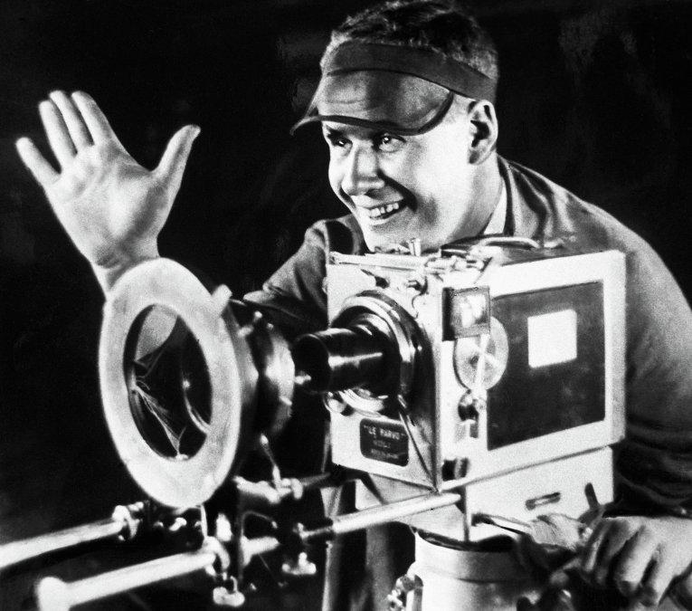 S. M. Eisenstein sur le tournage d'Octobre