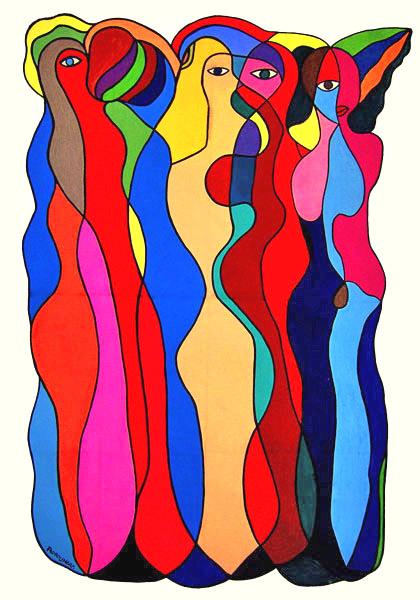 Tableau de Pedro Uhart : Les filles du bois de Boulogne