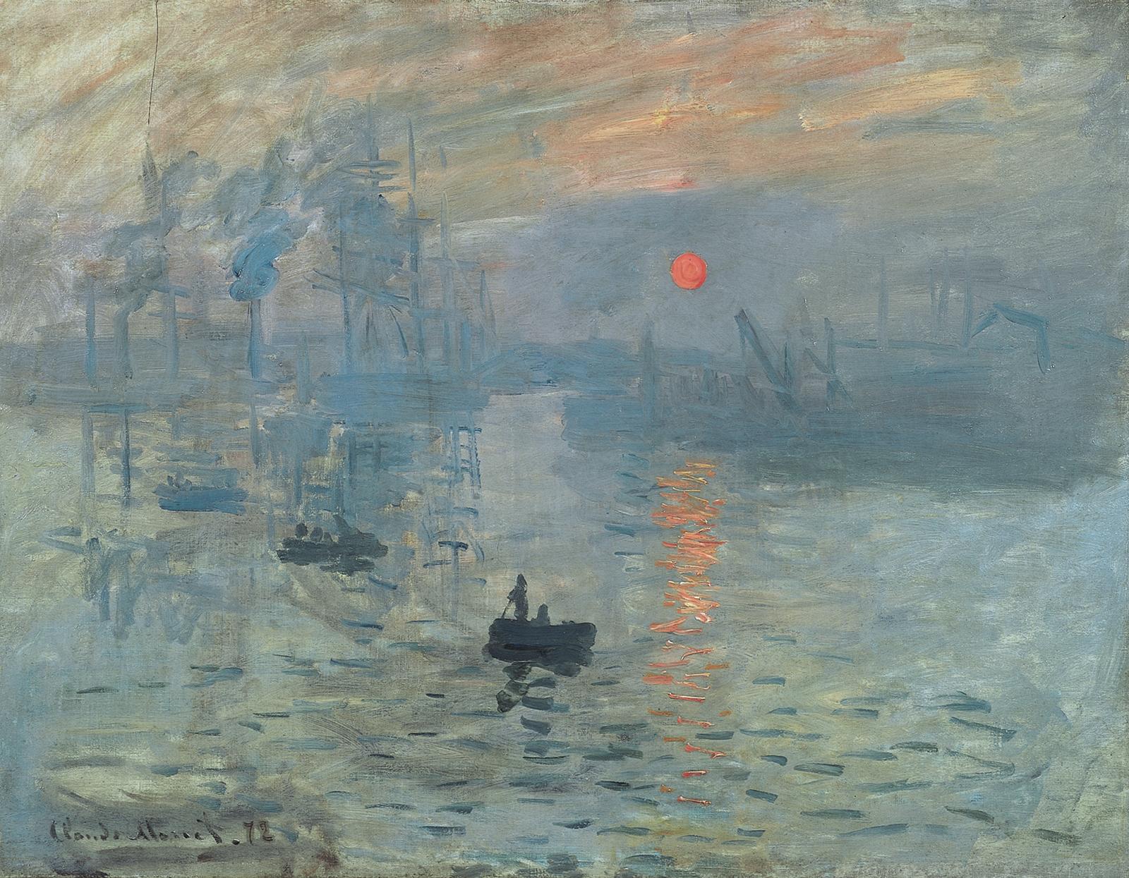 Impression, soleil levant, de Claude Monet