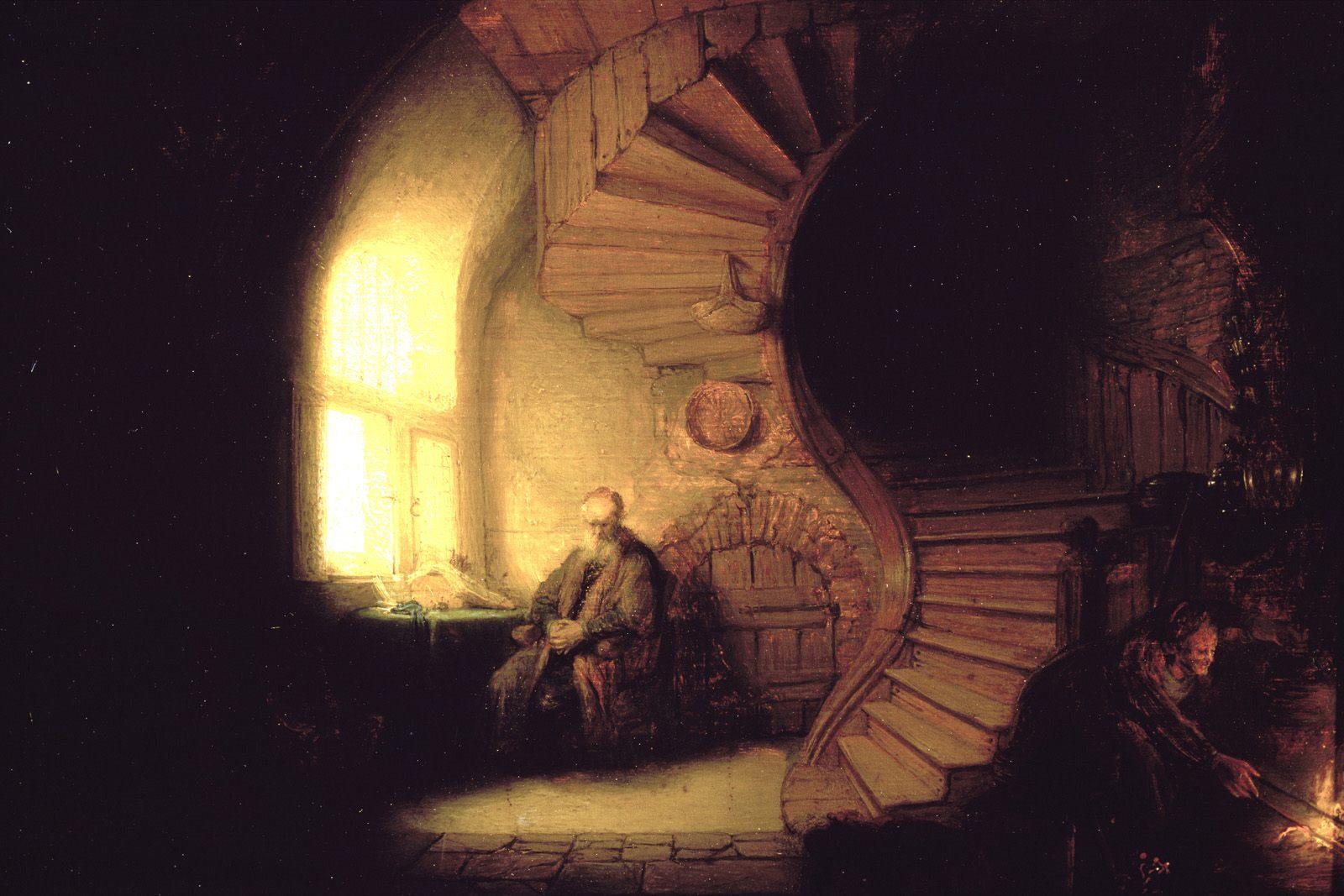 Philosophe en méditation, de Rembrandt