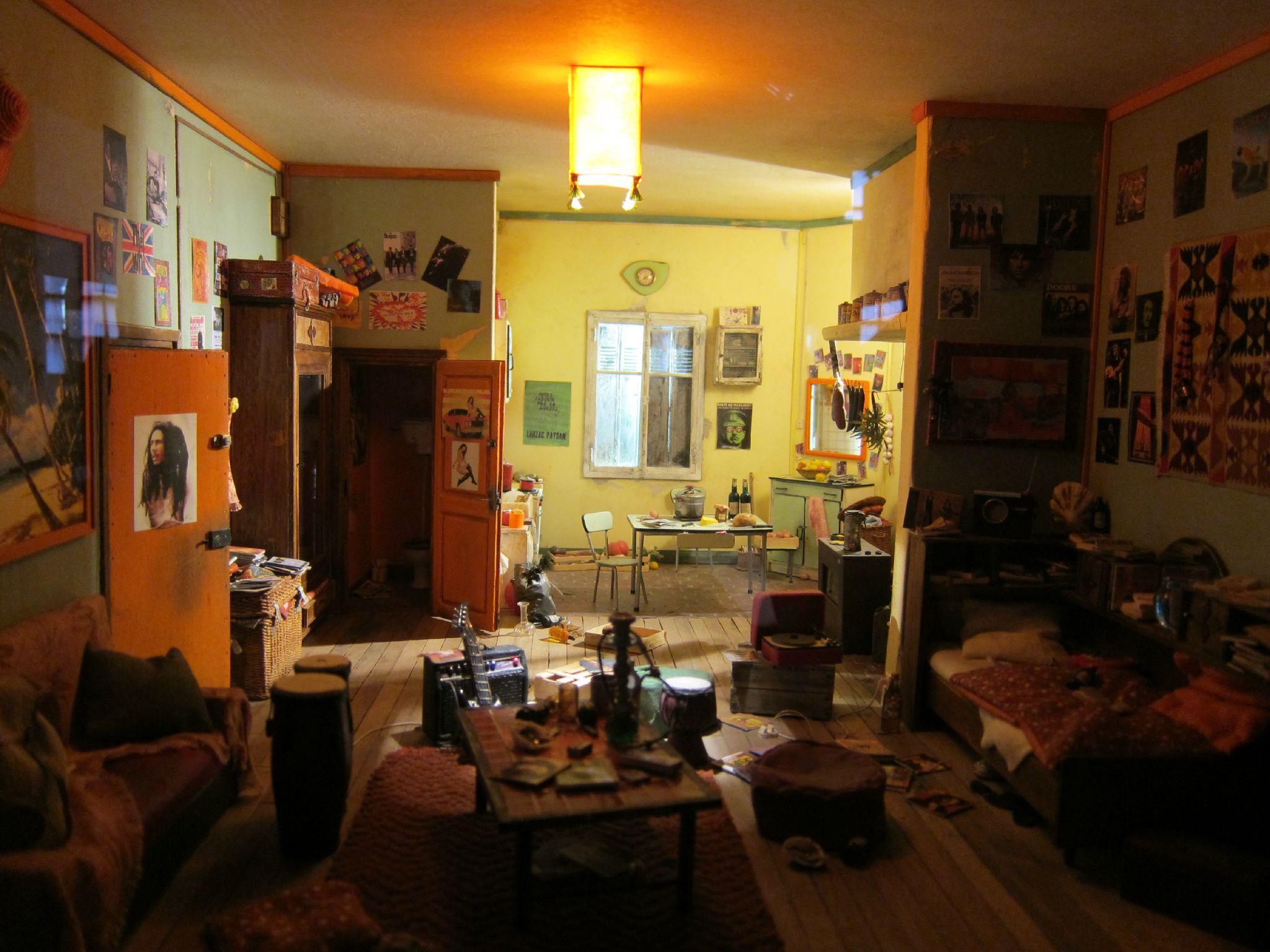 Miniature de chambre d'étudiant