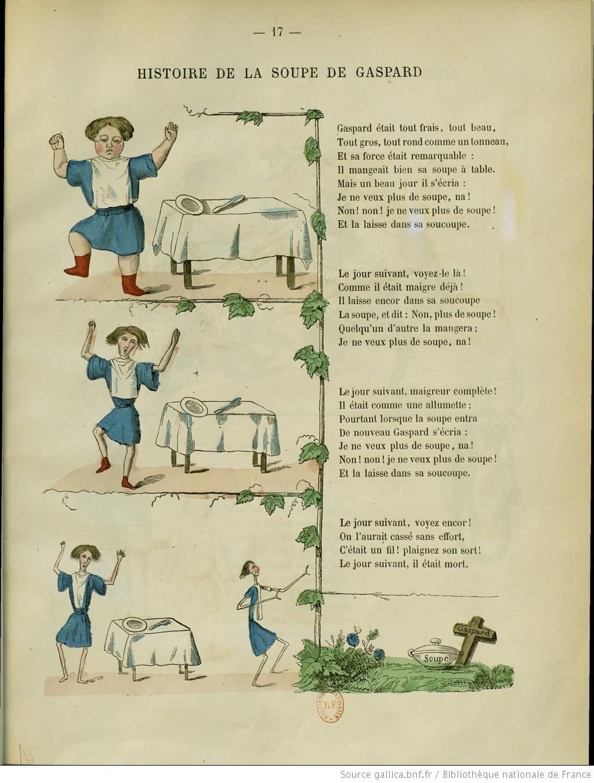 Image tirée du livre L'Histoire de la soupe de Gaspard