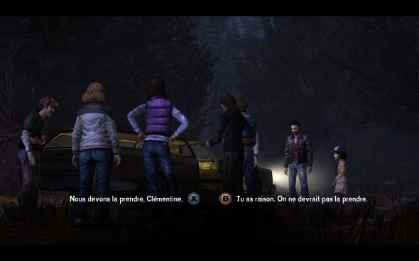 Capture du jeu, The Walking Dead: A Telltale Game Series, Telltale, 2012