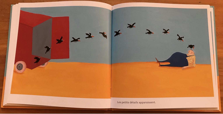 Double page extraite de l'album Les Oiseaux