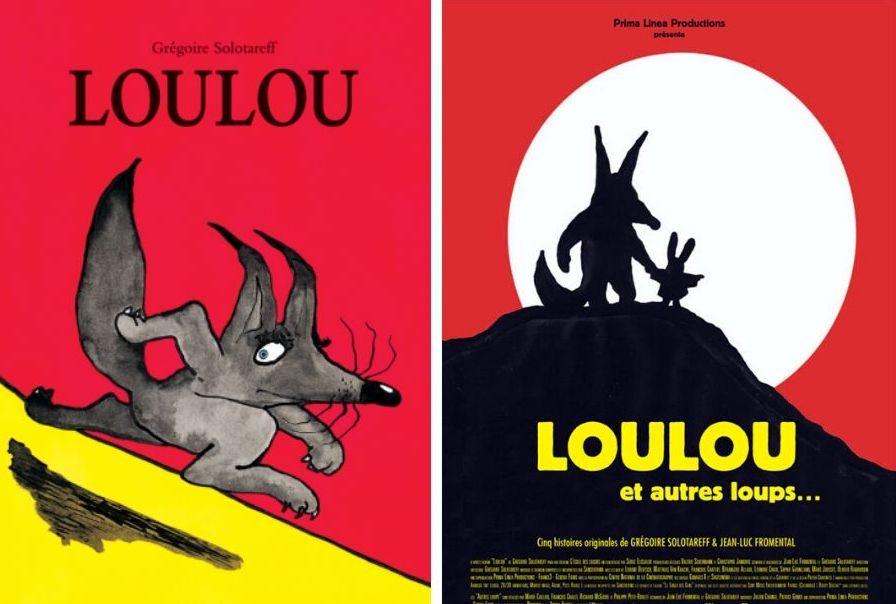 Couvertures des albums jeunesse Loulou