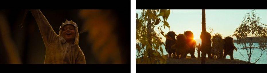 2 photogrammes du film Max et les Maximonstres