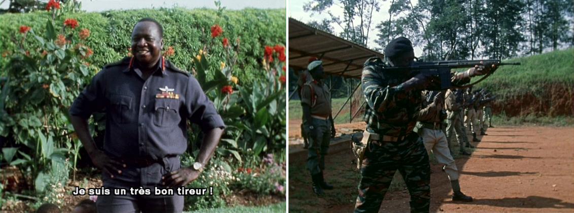 Photogrammes du film Général Idi Amin Dada, autoportrait, de Barbet Schroeder