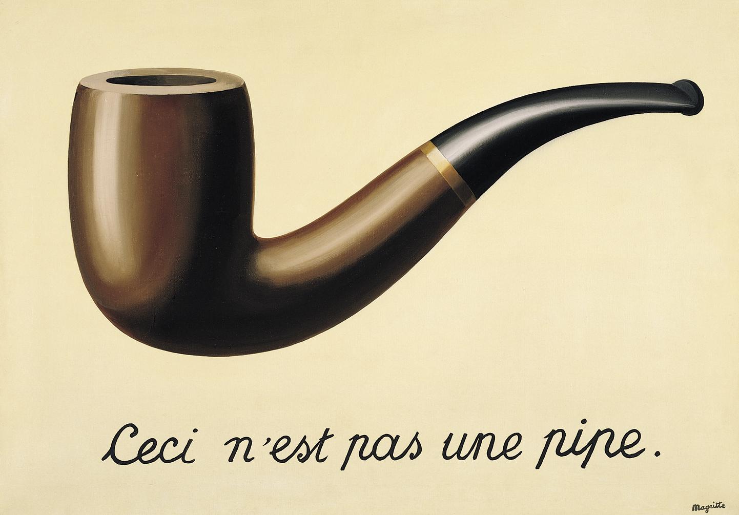La Trahison des images (1928-1929) de René Magritte.