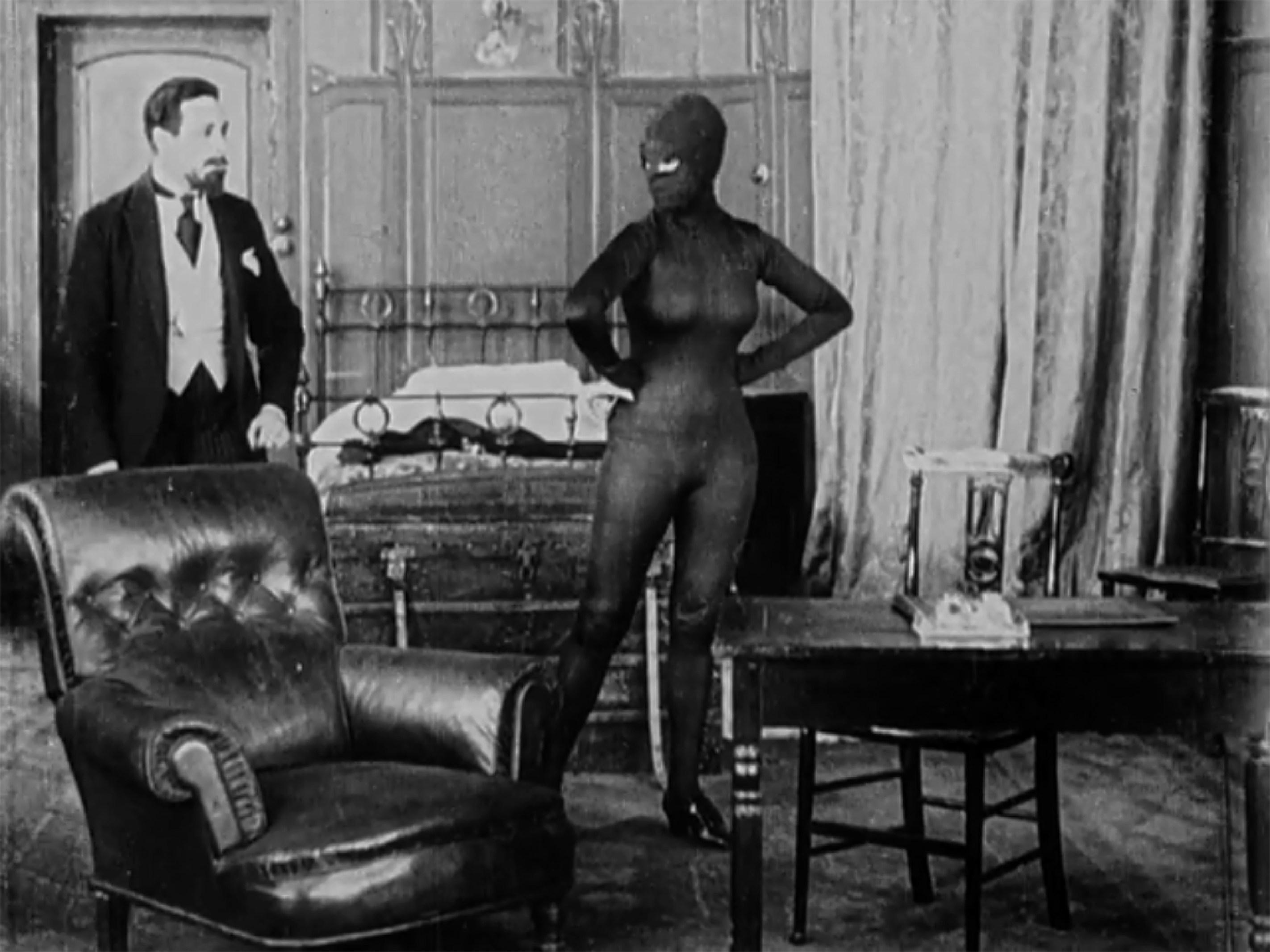 Musidora dans Les Vampires, de Louis Feuillade