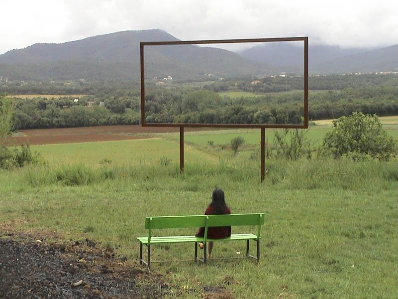 Initiation au cadre ciclic for Fenetre ouverte sur paysage